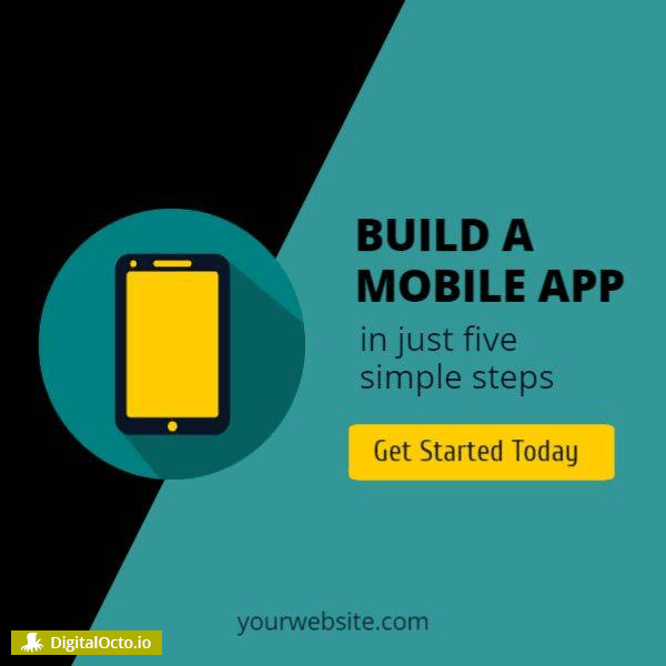 Build a mobile app – social media post graphic