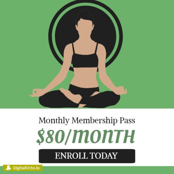 Monthly yoga membership pass