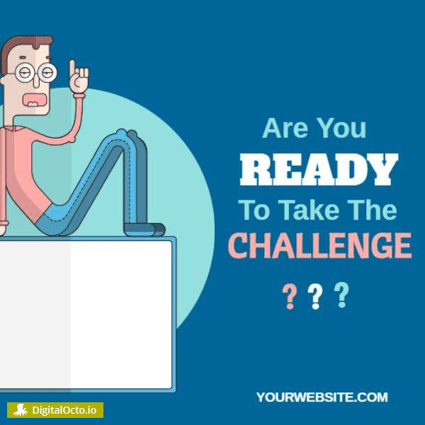 Ready for the challenge – free graphic for social media