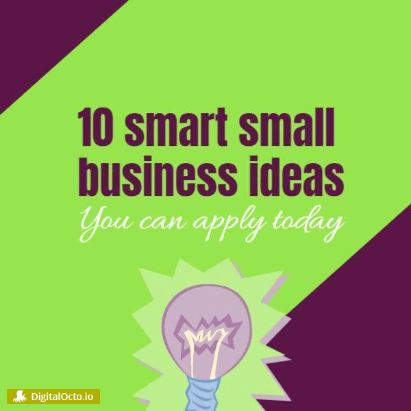 Small business ideas – free graphic for social media