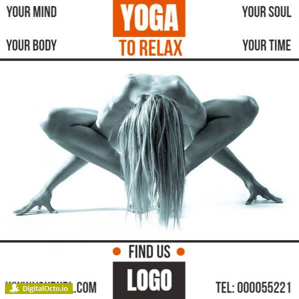Yoga course – free graphic