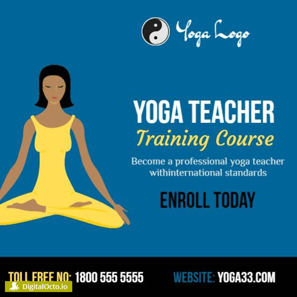 Yoga teacher training course – free graphic for social media