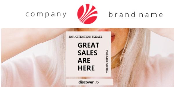 Email header bigger brand logo