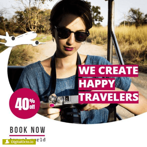 Create happy travelers book now