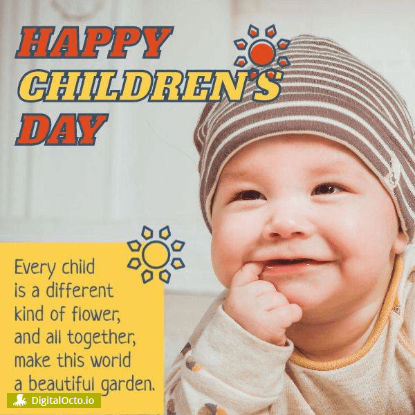 Every child is a different kind of flower, and all together, make this world a beautiful garden