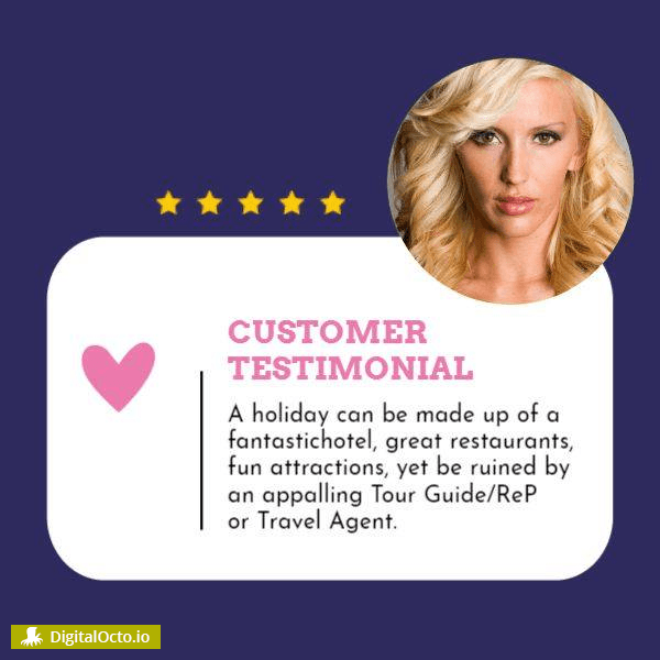 Customer testimonial design template