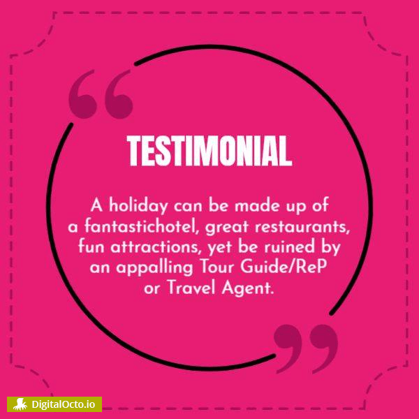 Powerful customer testimonial template