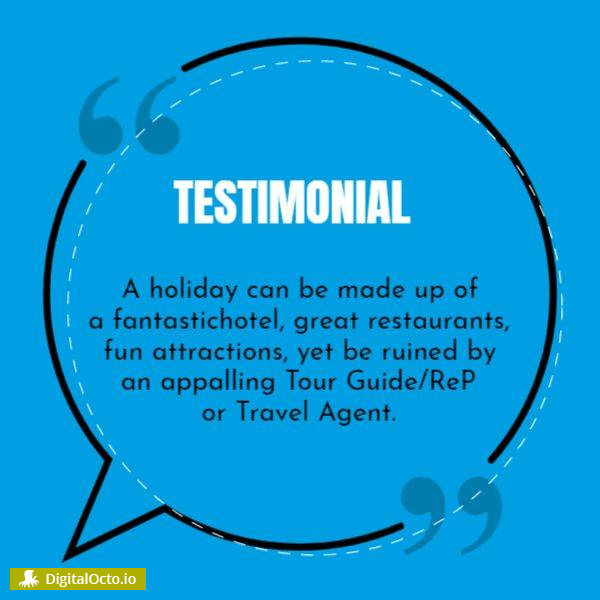 Share testimonial with your fans on social media