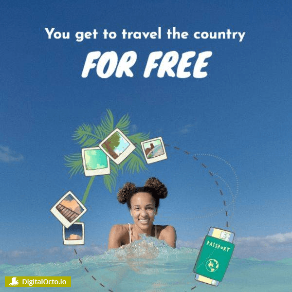 You get to travel the country for free