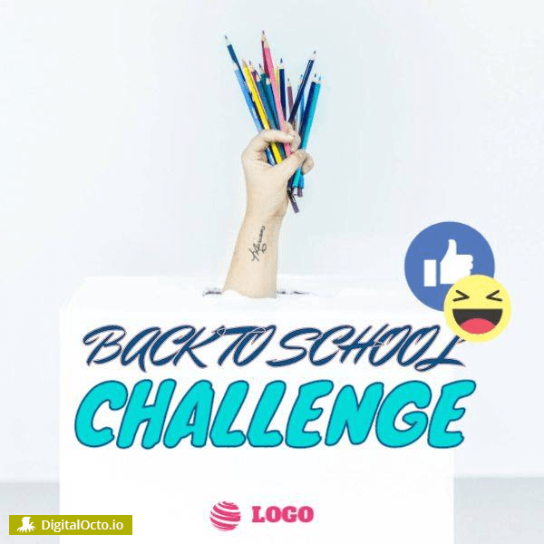 Back to School Challenge Design Template