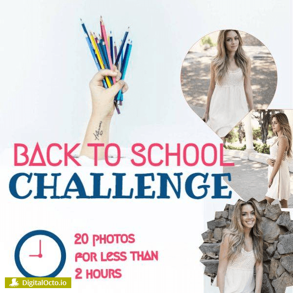 Back to school challenge – post 20 pics