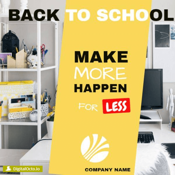 Back to School Design to Promote on Social Media